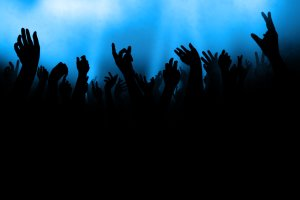 hands in air audience