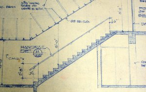 Architects plan for more than walls.  Even a staircase needs to be planned out in advance.