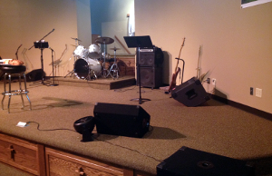 sound system for church. do you load in and out your system every weekend? does church meet a school, movie theater, community center, or other location that requires sound for